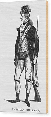 Revolutionary War Rifleman Wood Print by Granger