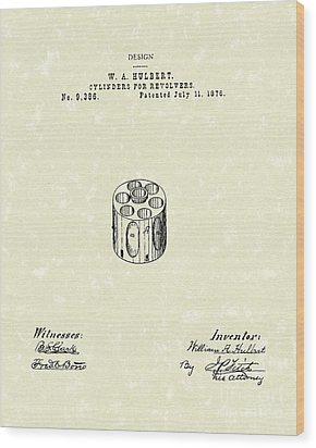 Revolver Cylinder 1876 Patent Art Wood Print by Prior Art Design