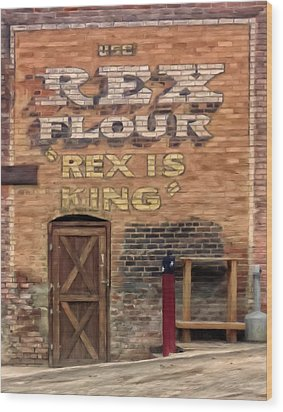 Wood Print featuring the painting Rex Is King by Michael Pickett