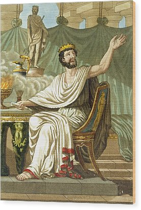 Rex Sacrificulus, Illustration Wood Print by Jacques Grasset de Saint-Sauveur