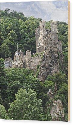 Rheinstein Castle Wood Print by Oscar Gutierrez