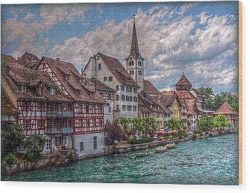 Wood Print featuring the photograph Rhine Bank by Hanny Heim