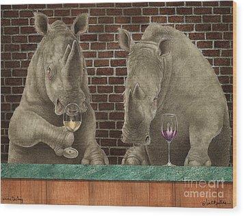 Rhine Tasting... Wood Print by Will Bullas
