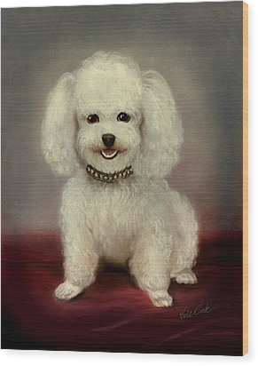 Cutest Poodle Wood Print by Evie Cook