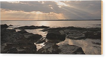 Wood Print featuring the photograph Rhode Island Sunset by Brooke T Ryan