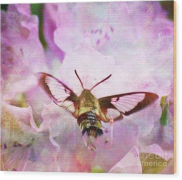Rhododendron Dreams Wood Print by Kerri Farley
