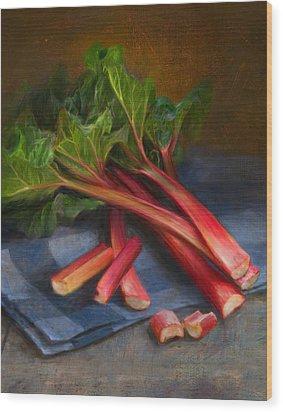 Rhubarb Wood Print by Robert Papp