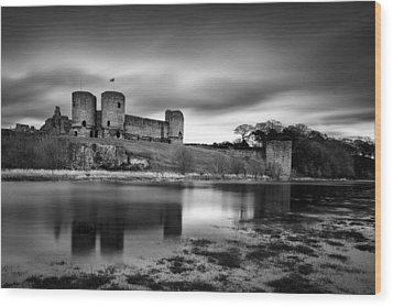 Rhuddlan Castle Wood Print by Dave Bowman