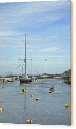 Rhyl Harbour Wood Print by Christopher Rowlands
