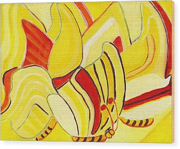 Rhythm Of Butterflies Wood Print by Olivia  M Dickerson
