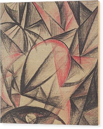 Rhythm Of Forms Wood Print by Alexander Bogomazov