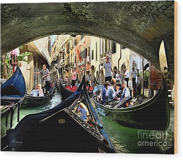 Wood Print featuring the photograph Rhythm Of Venice by Jennie Breeze
