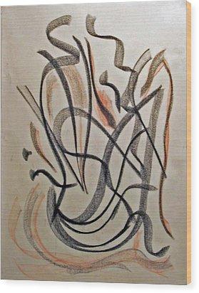 Rhythmic Interpretation  Wood Print by John Neumann
