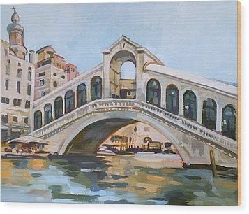 Rialto Bridge Wood Print by Filip Mihail