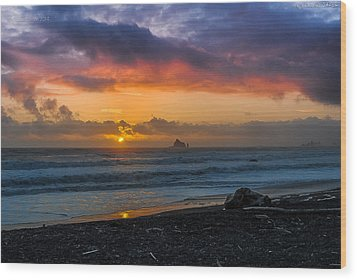 Rialto Sunset Wood Print