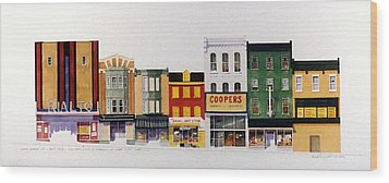 Rialto Theater Wood Print by William Renzulli