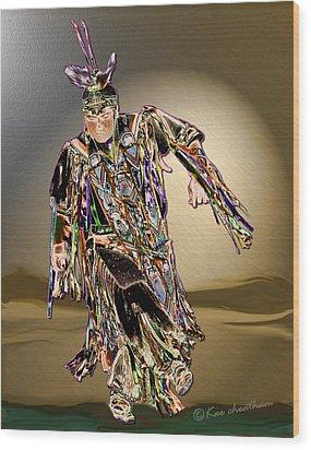 Ribbon Dancer Wood Print by Kae Cheatham