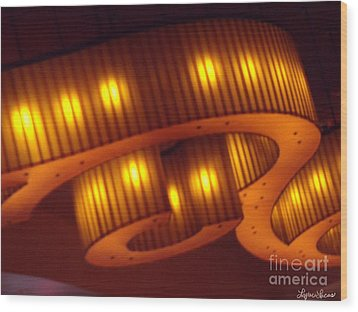 Wood Print featuring the photograph Glowing Ribbon by Lyric Lucas