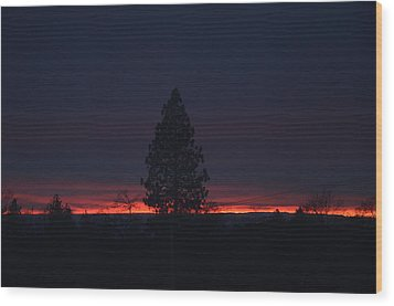 Ribbon Of Sunset Wood Print by Tom Mansfield