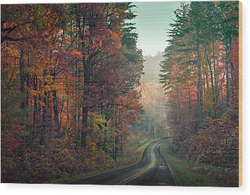Ribbon Road Wood Print by William Schmid