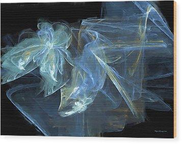 Ribbons And Bows Abstract Wood Print by Wayne Bonney