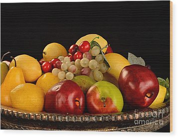 Rich Bowl Of Fruit Wood Print by Timothy OLeary