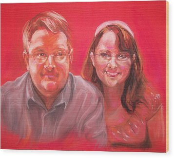 Richard And Lori Wood Print by Martha Suhocke