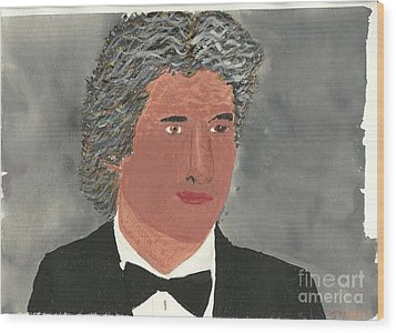 Wood Print featuring the painting Richard Gere by Tracey Williams