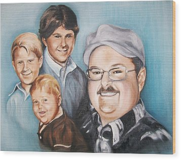 Richard Growing Up Wood Print