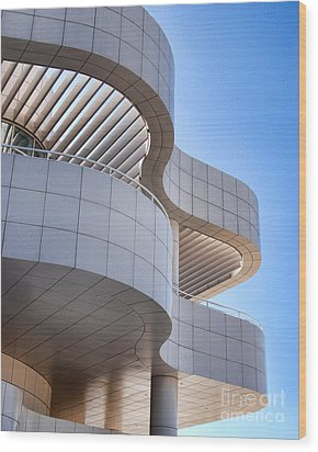 Richard Meier's Getty Architecture I Wood Print