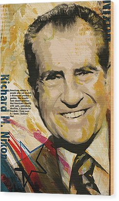 Richard Nixon Wood Print