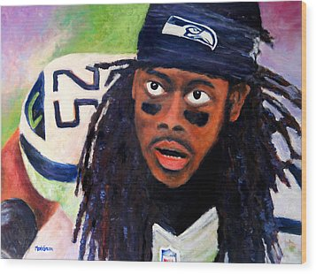 Richard Sherman Wood Print by Marti Green