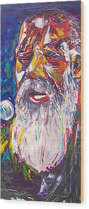 Richie Havens - Freedom Wood Print by Valerie Wolf