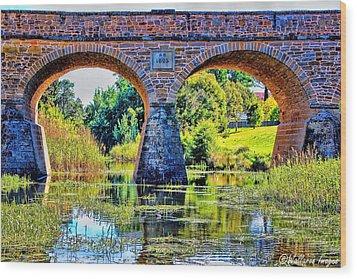 Richmond Bridge Wood Print by Wallaroo Images