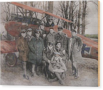 Richthofen And His Flying Circus Wood Print by Vikram Singh