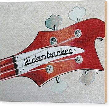 Rickenbacker Wood Print by Glenda Zuckerman