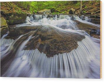 Rivers Run Wood Print by Mike Lang