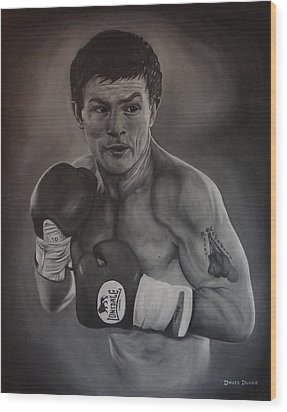 Wood Print featuring the painting Ricky Hatton by David Dunne