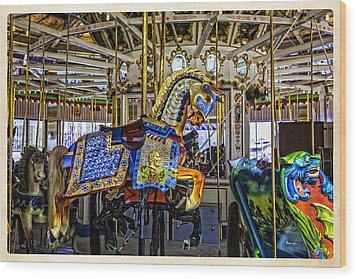 Ride A Painted Pony - Coney Island 2013 - Brooklyn - New York Wood Print by Madeline Ellis