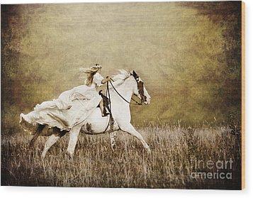Ride Like The Wind Wood Print by Cindy Singleton