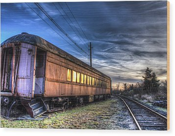 Ride The Rails Wood Print