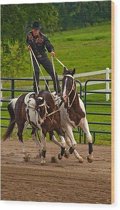 Ride Them Cowboy Wood Print by Karol Livote