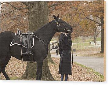 Riderless Horse Wood Print
