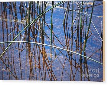 Ridges Reflection Wood Print