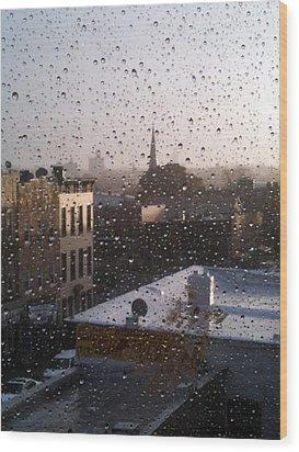 Ridgewood Wet With Rain Wood Print by Mieczyslaw Rudek Mietko