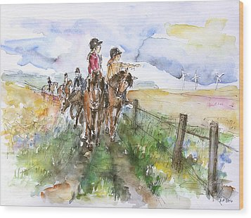 Riding Out Wood Print by Barbara Pommerenke