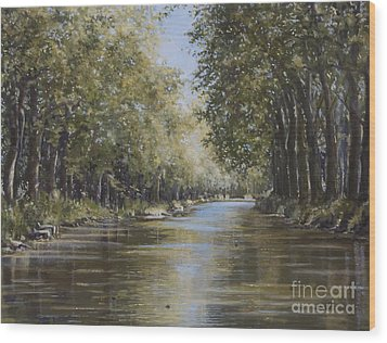 The Canal Wood Print by Margit Sampogna