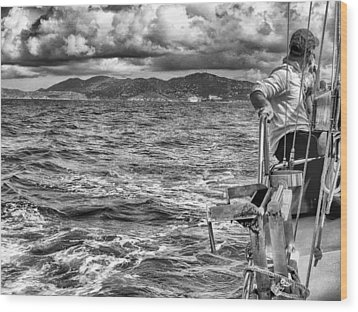 Wood Print featuring the photograph Riding The Crest Of The Wave by Howard Salmon
