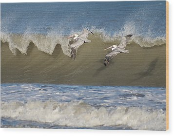 Wood Print featuring the photograph Riding The Wave by Gregg Southard
