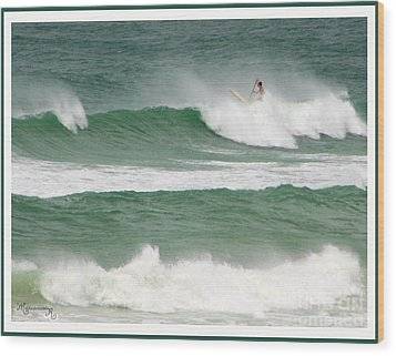 Riding The Waves Wood Print by Mariarosa Rockefeller